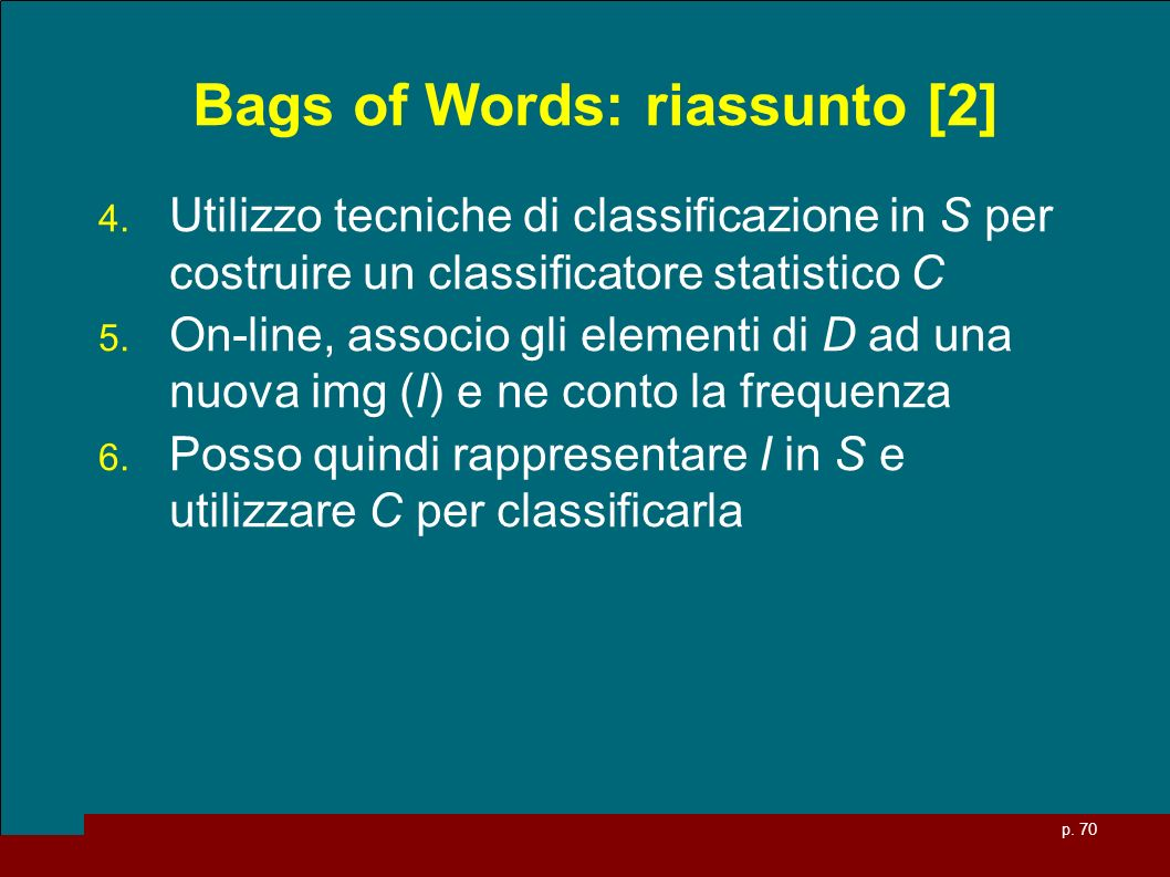 Bags of Words: riassunto [2]
